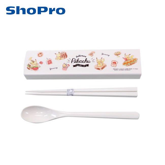 皮卡丘 兩件式 餐具組 日本製 環保餐具 湯匙 筷子 寶可夢 神奇寶貝 OSK