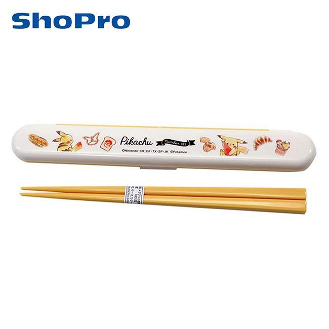 皮卡丘 環保筷 日本製 附收納盒 筷子 18cm 寶可夢 神奇寶貝 OSK