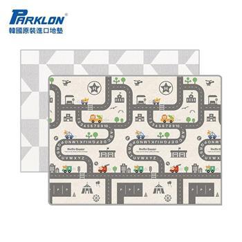 【PARKLON】韓國帕龍無毒地墊 - 雙面包邊1.5CM【幾何車車軌道】