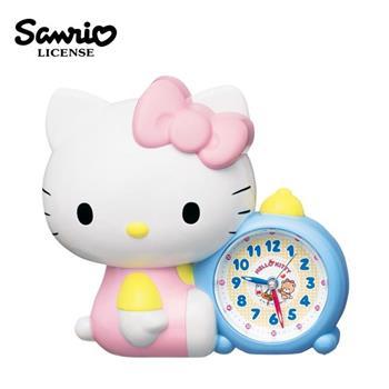 凱蒂貓 造型鬧鐘 滑動式秒針 靜音鬧鐘 說話鬧鐘 指針時鐘 鬧鐘 Hello Kitty SEIKO
