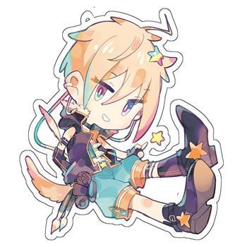 台灣Vtuber-星形KARAS-塑膠吊飾