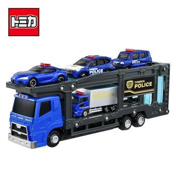 TOMICA 警察運輸車組 附4台小車 玩具車 汽車運輸車 城鎮系列 場景玩具 小車收納 多美小汽車