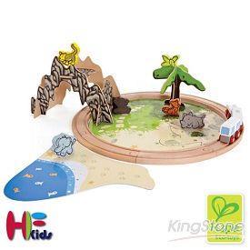 【Hape Eco-toys】叢林動物DIY列車組