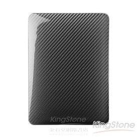 【Navjack】iPad1玻纖背蓋_黑絡框_黑碳纖