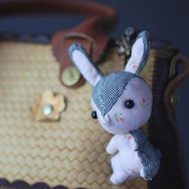 【彩虹森林】小兔巧巧-安靜粉小花(小型)