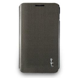 Galaxy Note玻纖掀蓋式保護套-深灰色