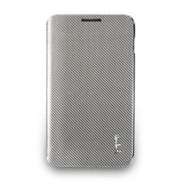 Galaxy Note玻纖掀蓋式保護套-亮銀色