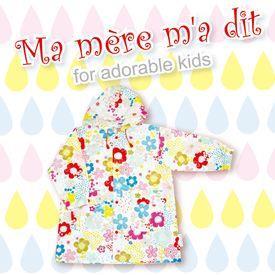 【日本 Ma Mere Ma Dit】綻放花朵外套式雨衣-L