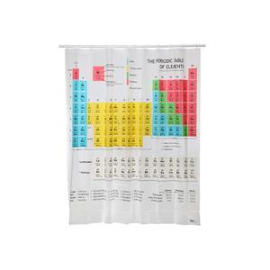 賽先生科學工廠-化學元素週期表浴簾Periodic Table Shower Curtain