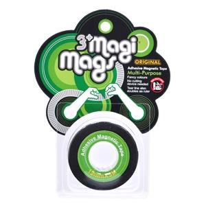 【3+ Magi Mags】磁鐵膠帶19mmx5M-經典綠