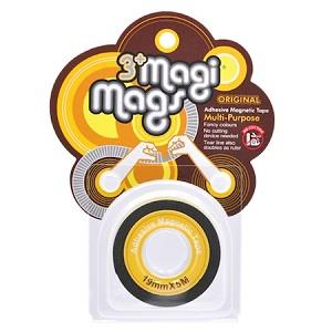 【3+ Magi Mags】磁鐵膠帶19mmx5M-霓虹黃