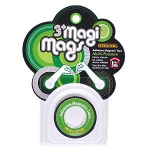 【3+ Magi Mags】磁鐵膠帶19mmx3M-經典綠
