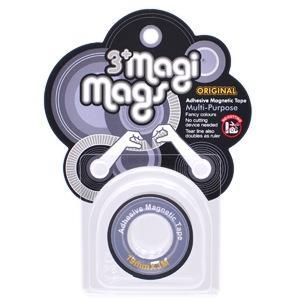 【3+ Magi Mags】磁鐵膠帶19mmx3M-經典銀