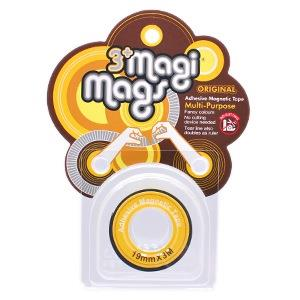 【3+ Magi Mags】磁鐵膠帶19mmx3M-霓虹黃