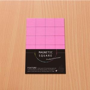 3+ Magnetic Square 磁鐵方塊-霓虹粉