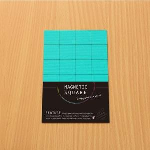 3+ Magnetic Square 磁鐵方塊-霓虹藍