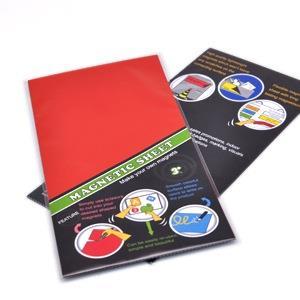 3+ MAGNETIC SHEET 七彩PVC軟性磁鐵-紅