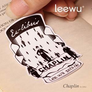 【leewu】Fantasy 藏書票-Chaplin