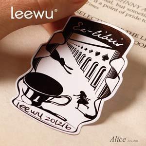 【leewu】Fantasy 藏書票-Alice