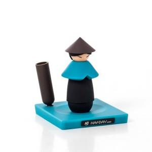 【iThinking】簑笠翁磁性迴紋針筆座-藍色