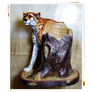 【1st Gift】復古手工彩繪Poly筆筒-獵豹