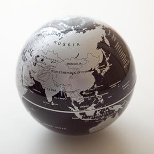 賽先生科學工廠-自轉地球儀-銀黑