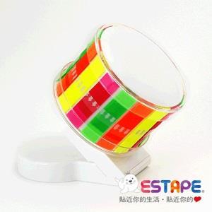【ESTAPE】45°新穎易撕貼膠台組(附易撕貼Memo抽取式膠帶1卷/4色全彩)