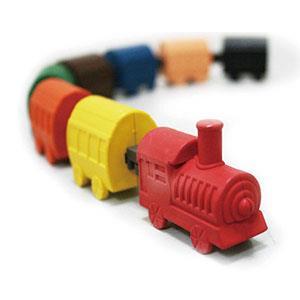 【允拓】小火車蠟筆橡擦組-經典款