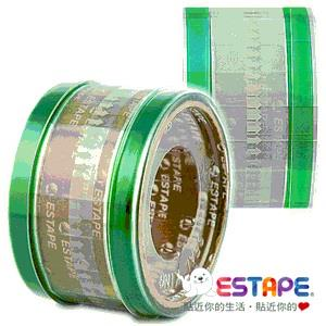 【ESTAPE】易撕貼OPP抽取式透明膠帶 (綠色色頭)