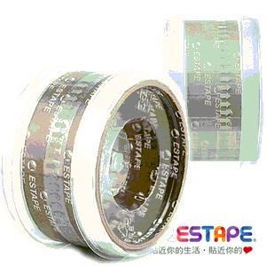 【ESTAPE】易撕貼OPP抽取式透明膠帶 (白色色頭)