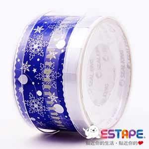 【ESTAPE】易撕貼OPP 繽紛2版-藍底銀雪