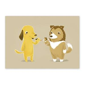 Smohouse [PoCa] 插畫明信片:小狗系列手偶篇