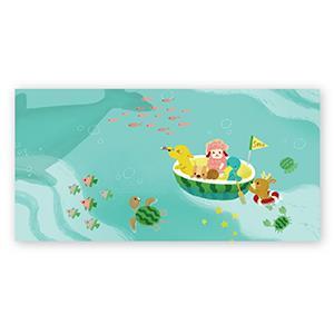 Smohouse [PoCa] 插畫明信片:藍色西瓜海
