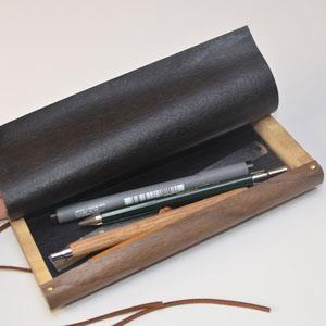 【一郎木創】木革筆袋-胡桃木