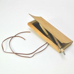 【一郎木創】木革筆袋-櫻桃木