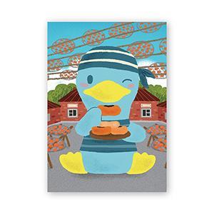 Smohouse [PoCa] 臺式點心明信片:柿餅