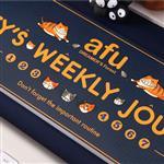 afu插畫貓咪週記本《貓咪的生活週記-雅痞藍》