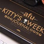 afu插畫貓咪週記本《貓咪的生活週記-紳士黑》