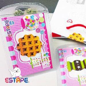 ESTAPE 造型隨手貼OPP 點心卡 鬆餅