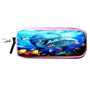 < Big wild fans! > 潛水布筆袋- 803雙海豚(粉紅)