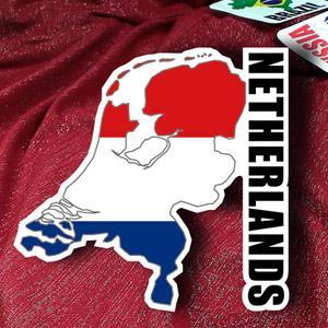 【國旗商品創意館】荷蘭國旗地圖抗UV、防水貼紙/Netherlands/世界多國款可選購