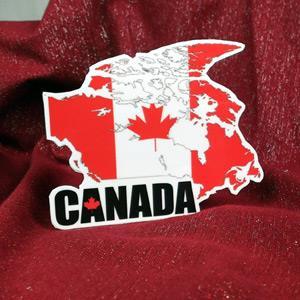 【國旗商品創意館】加拿大國旗地圖抗UV、防水貼紙/Canada/世界多國款可選購