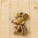 古銅色配件輕靈之森手工療癒系‧可愛鼠*6