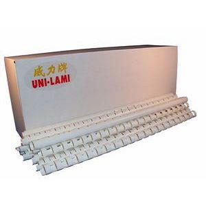 【UNI -LAMI 威力牌】裝訂膠圈 膠環 12MM 白色 100支/盒