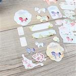 浪漫木馬紙制貼紙(套/3張)