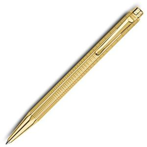 CARAN d'ACHE 艾可朵都市麥紋原子筆(鍍金)