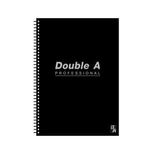 Double A B5線圈筆記本-辦公室系列(黑) DANB12171