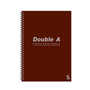 Double A B5線圈筆記本-辦公室系列(咖啡) DANB12172