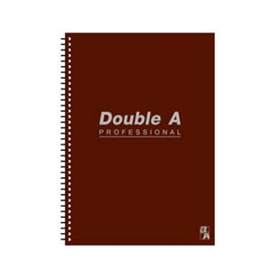 Double A A5線圈筆記本-辦公室系列(咖啡) DANB12176