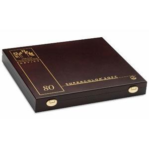 CARAN d`ACHE SUPRACOLOR專家級水溶性色鉛80色 木盒